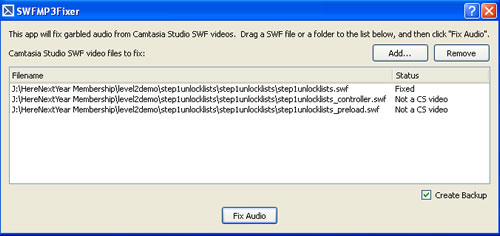 Camtasia Squeak Sound Fix