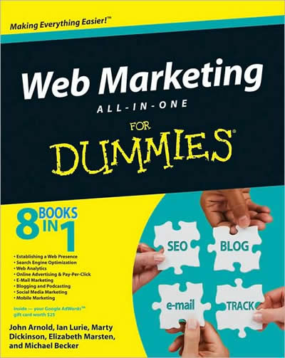 Web Marketing All-in-One For-Dummies Book Now In-Stock at Amazon